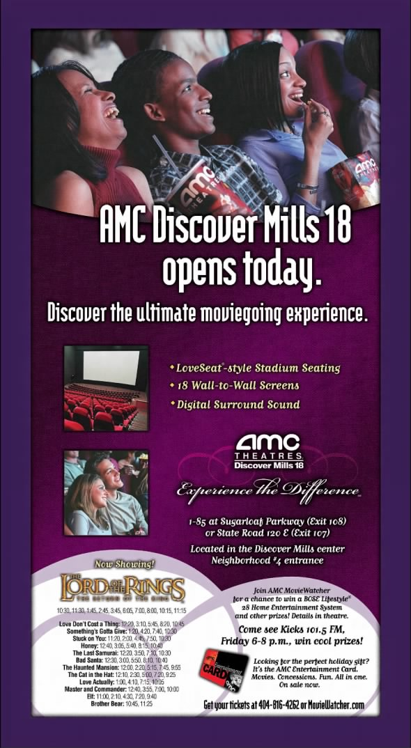 AMC Discover Mills 18 opening
