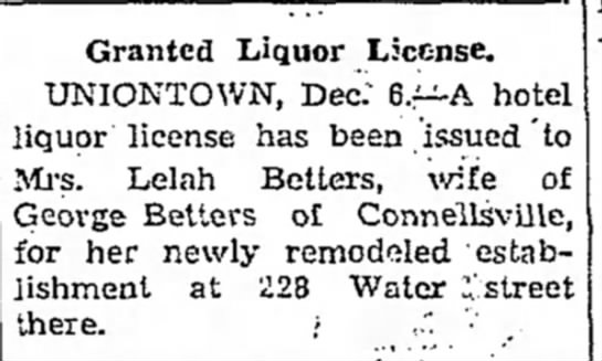 lela ligquor license
