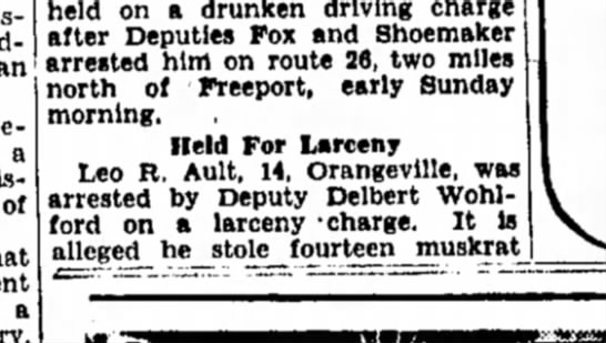 Leo Ault, 14 Larceny