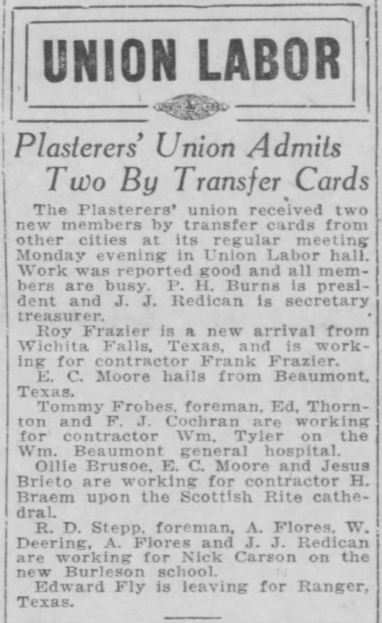 1922-10-03-14 H. Braem - UNION LABOR...