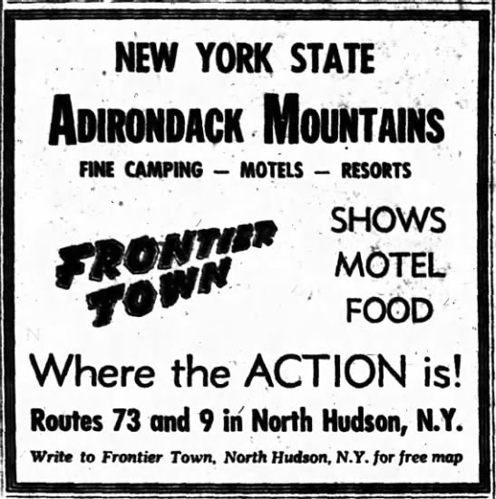 Frontier Town News - NEW YORK STATE ADIROriDACKOUIITAINS ITN CAMPING...