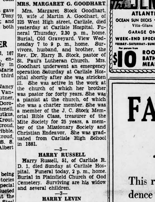 1936 October 6 Hbg Telegraph - gave Tony and both 167 entertained in Marie...