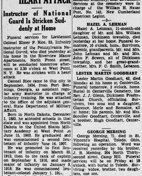 1935 July 10 Hbg Telegraph - Instructor of National Guard Is Stricken...