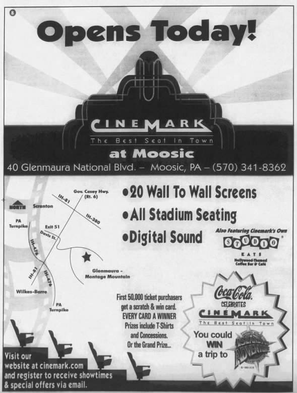 Cinemark at Moosic opening