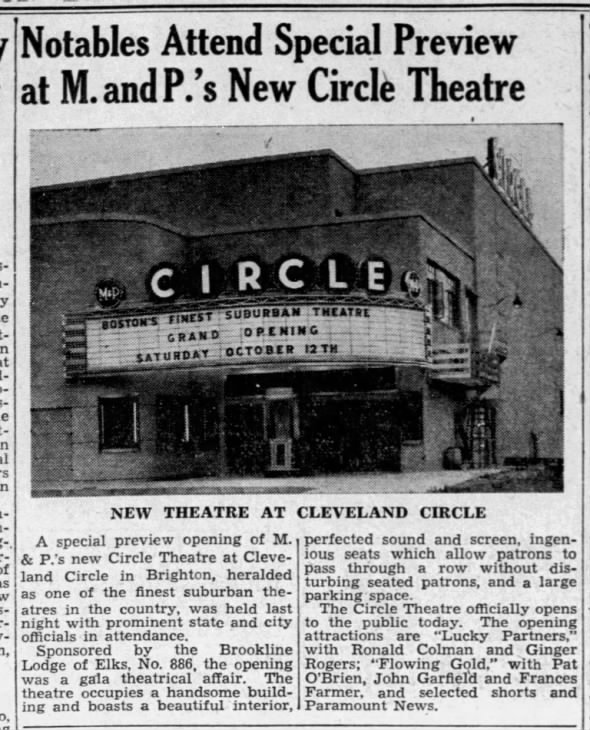 Circle theatre opening