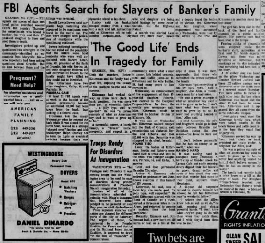 kitterman murders - FBI Agents Search for Slayers of Banker's...