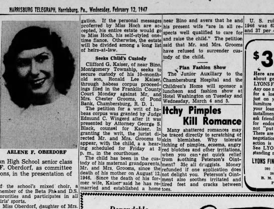 1947 February 12 Harrisburg Telegraph - HARRISBURG TELEGRAPH, Harrlsburg, Pa.,...