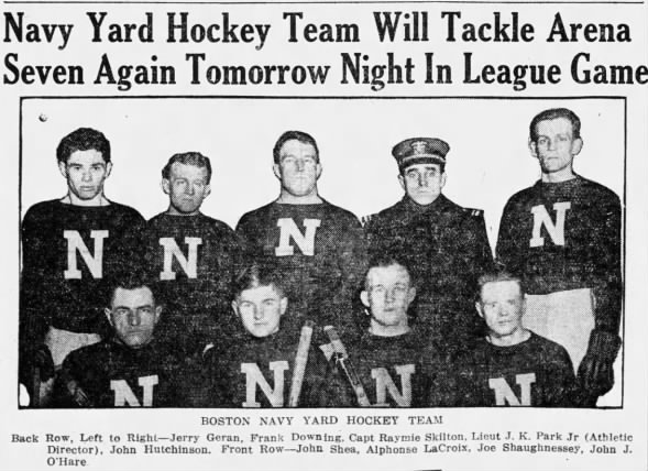 charlestown navy yard hockey team