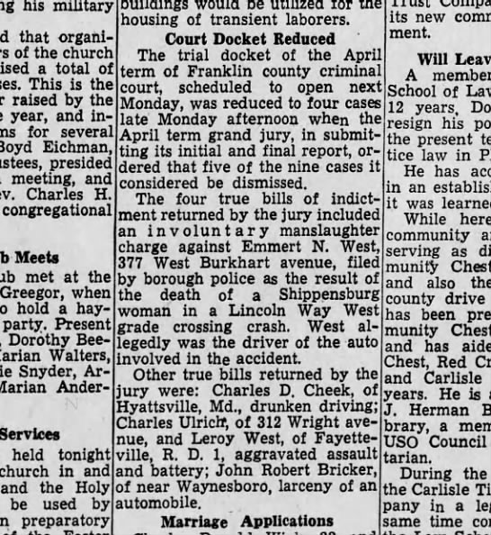 Harrisburg Telegraph (Harrisburg, PA) 17 April 1946