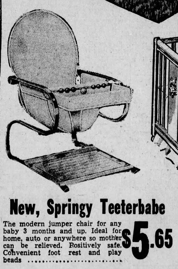 Baby jumper chair - Teeterbabe 1946