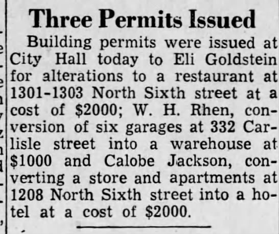Jack's Hotelbuilding permit