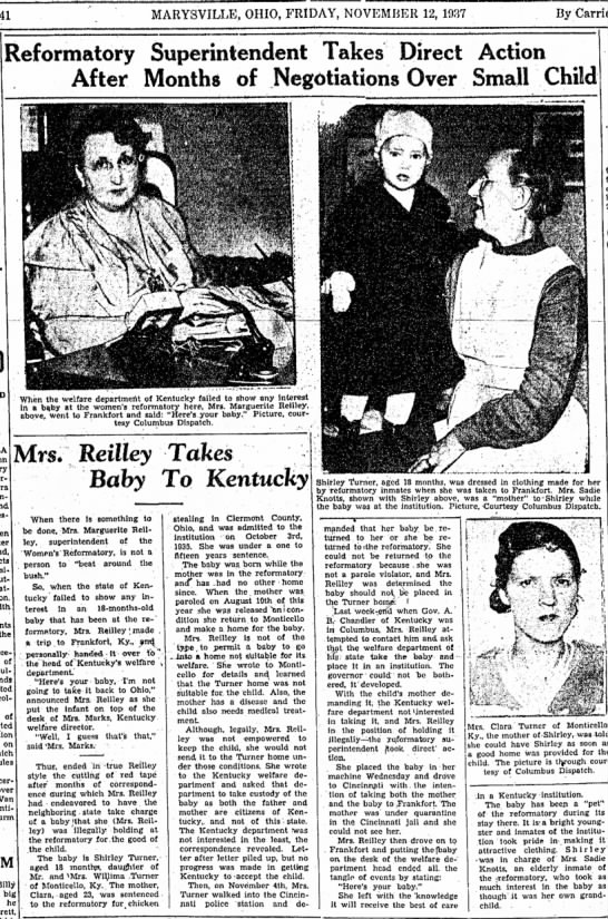 Reformatory Superintendent Takes Direct Action - 41 MARYSVILLE, OHIO, FRIDAY, NOVEMBER 12, 1937...