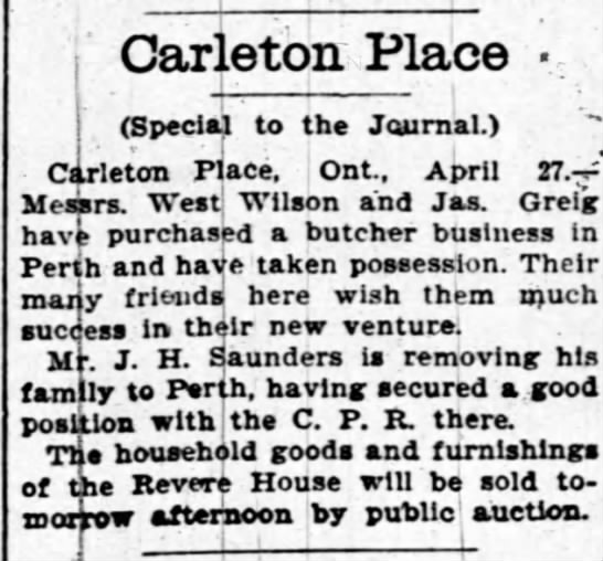 - Carleton Place -h -h 1 (Special to the...