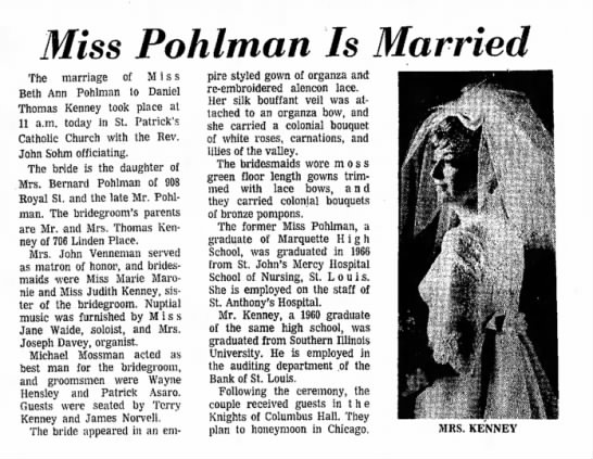 Miss Pohlman is Married - Miss Pohlman Is Married The marriage of Miss...