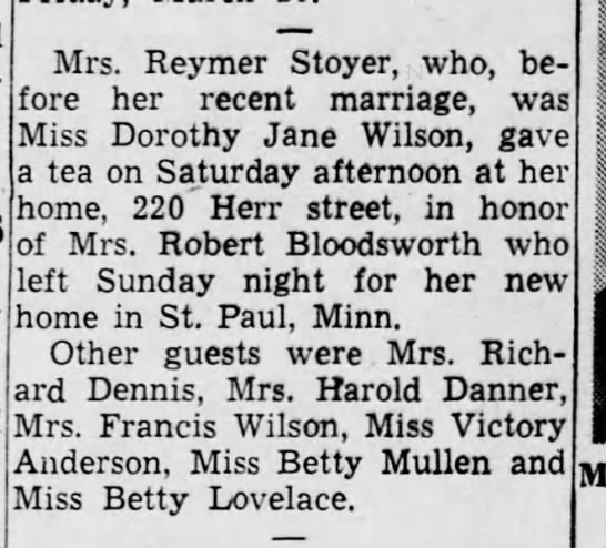 Grammie gives tea party - Mrs. Reymer Stoyer, who, be fore her recent...