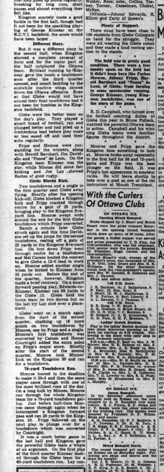 Jack Eckholdt, 25 Nov 1940 (2) - breaking for long runs, short mint auuuai...