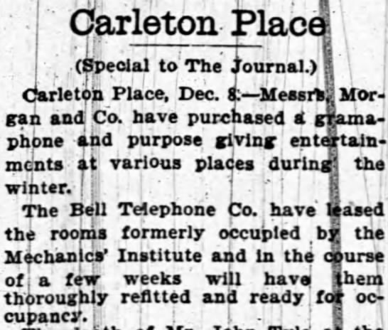 - Carleton Place (Special to The ournal.) I:...