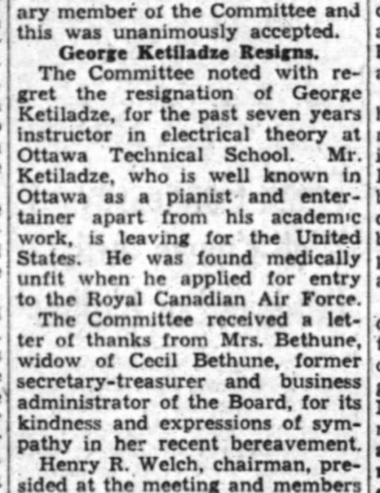 Ottawa Journal 21 Jan 1941 - ary member of the Committee and this was...