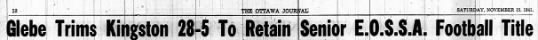 Jack Eckholdt, 15 Nov 1941 - 1 'TO OTTAWA journal; ' ; I 23 SATURDAY,...