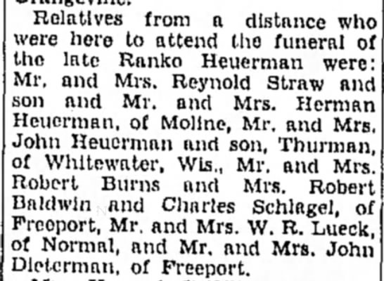 About Ranko Heuerman's funeral. - Relatives from a distance who were hero to...