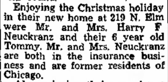 New Home Harry Neuckranz - Enjoying the Christmas holiday in their new...