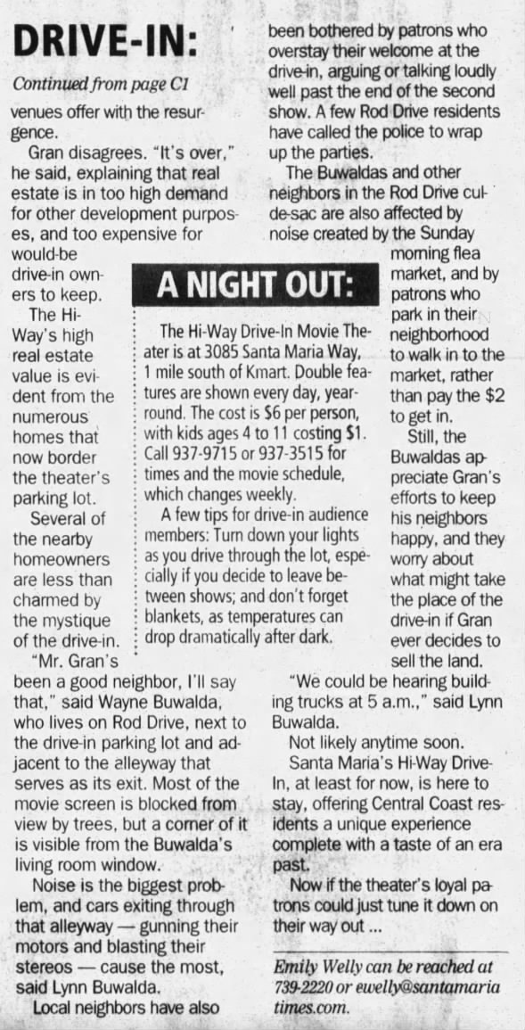 Hi-Way Drive-In 2005 article 2