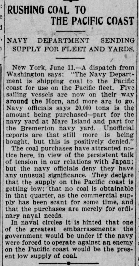 Bremerton in 1907 - rishi.no am to THE PACIFIC COAST NAVY...
