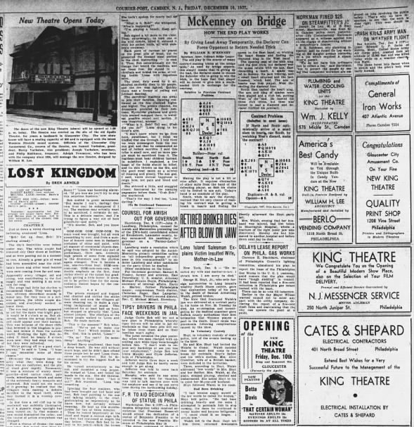 King theatre opening