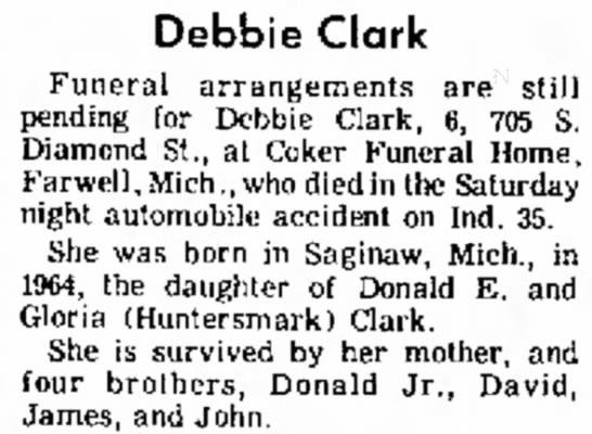Obituary for Debra Clark - or Ft. at Debbie Clark Funeral arrangements are...