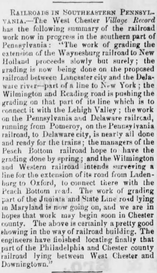 SE PA RR Expansion 1872 - Raii.roai9in Southeastern Pennsyl. vania. The...