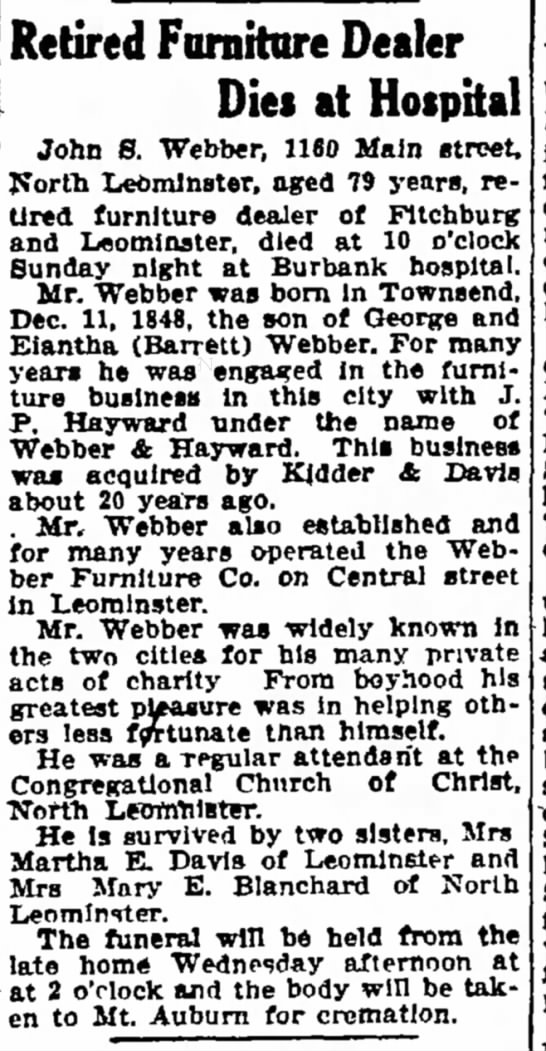 webber_john_stratton_fitchburgsentinel_12mar1928 - of church at by afternoon. and A Retired...