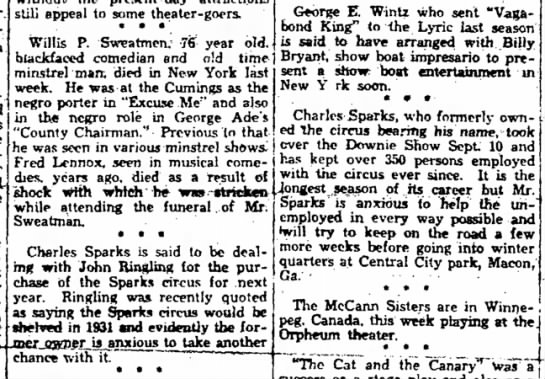 Sparks Articles