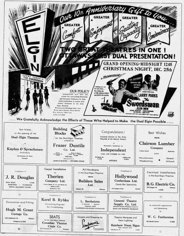 Elgin Dual theatre opening