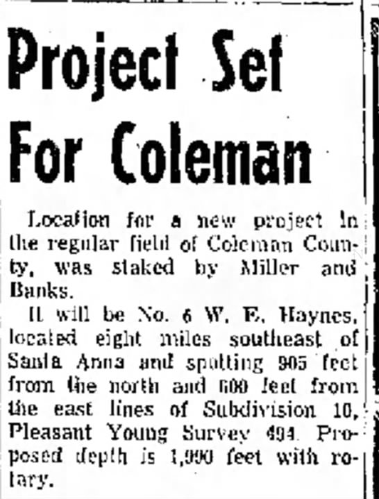 - be As new in Project Set For Coleman I,oealion...