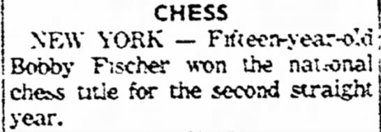 Chess - l be ha\e which CHESS NEW YORK -- Fifteen-y...