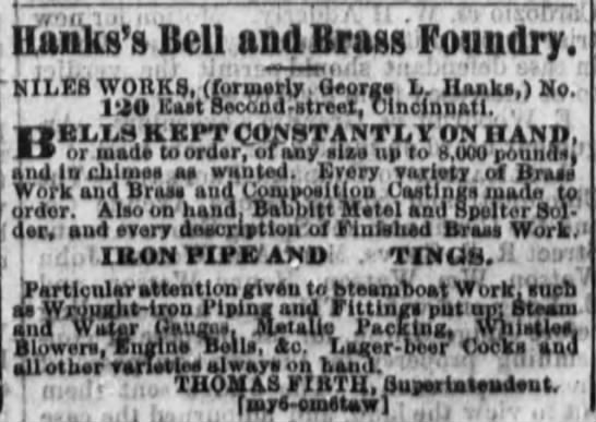 Hank Bell and Brass Foundry - Ilunks's Bell and Brass Foundry. kiLGB WORKS,...