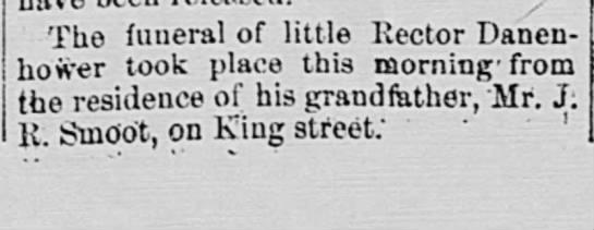 James Rector Smoot Danenhower - The funeral of little Rector Danen* ! bower...