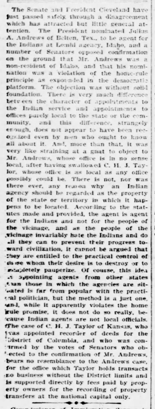 1894-07-27-EveningStar-p6-[Editorial] - tr The R? nate m l I wi.lcnt Cleveland have...