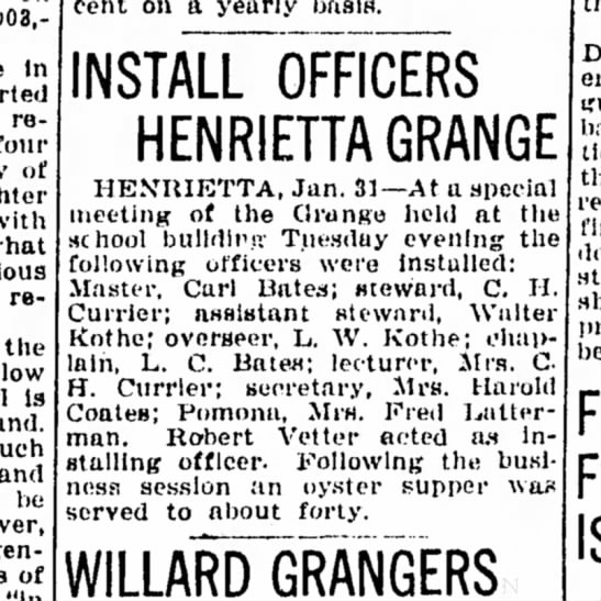 Hen Grange 1FEb1930 - in reduced four of with report. the low is and...