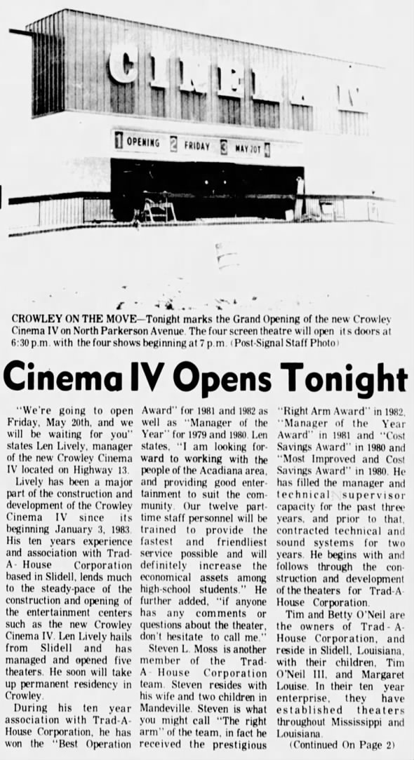 Cinema IV opening