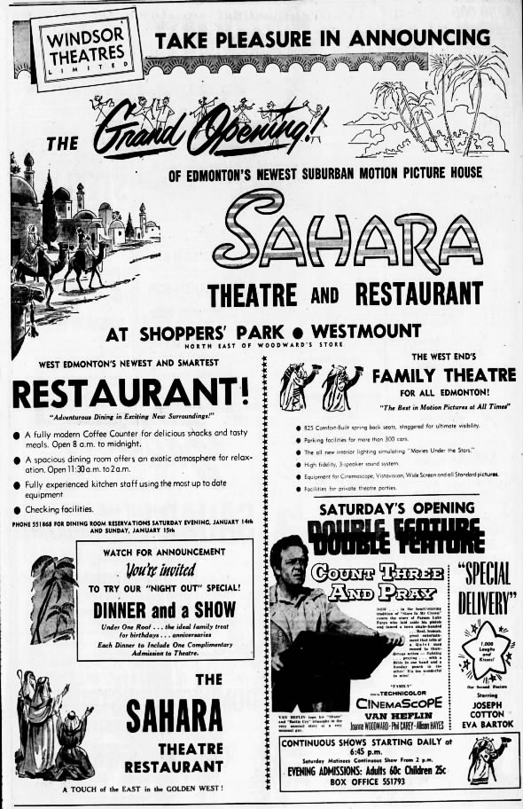 Sahara theatre and restaurant opening