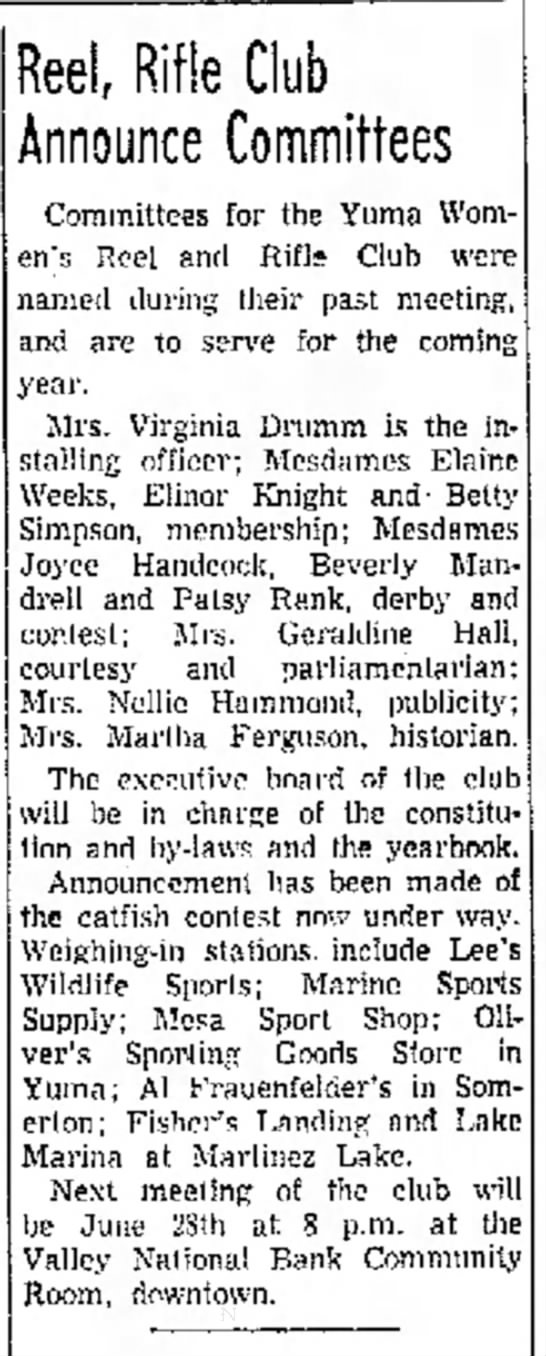 June 18 1962 - of and the will Reel Rifle Club Announce...