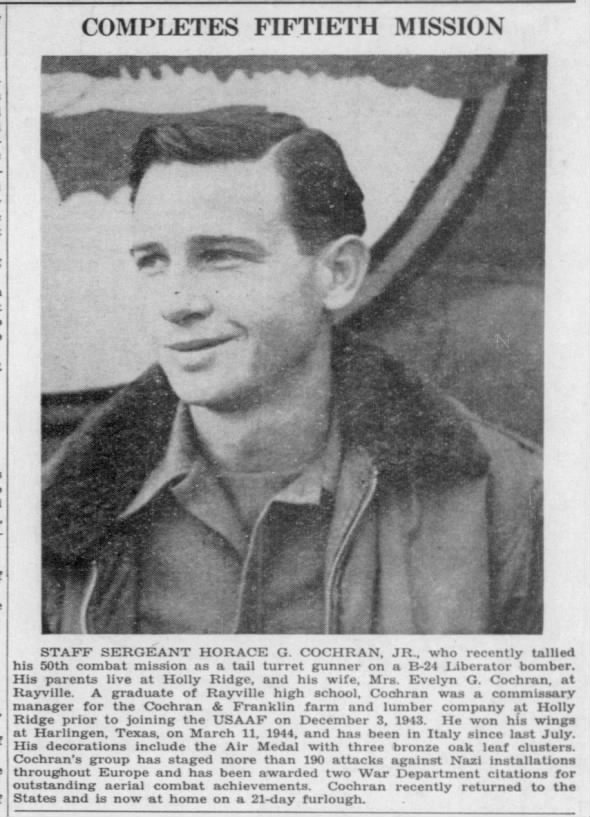 Horace G. Cochran - Completes Fiftieth Mission