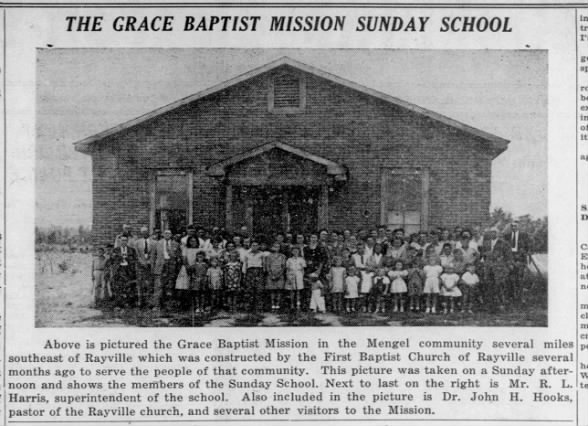 Grace Baptist Church in the Mengel Community