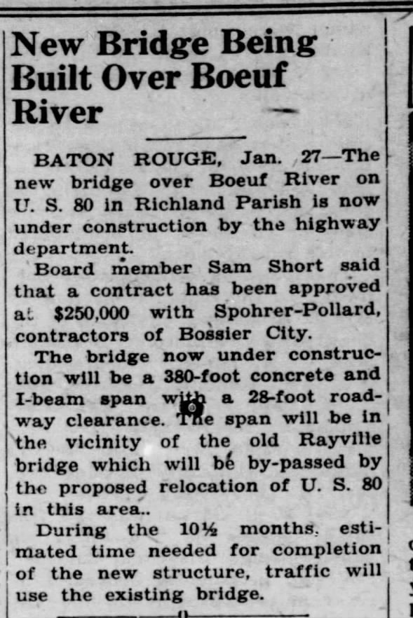 New boeuf River Bridge