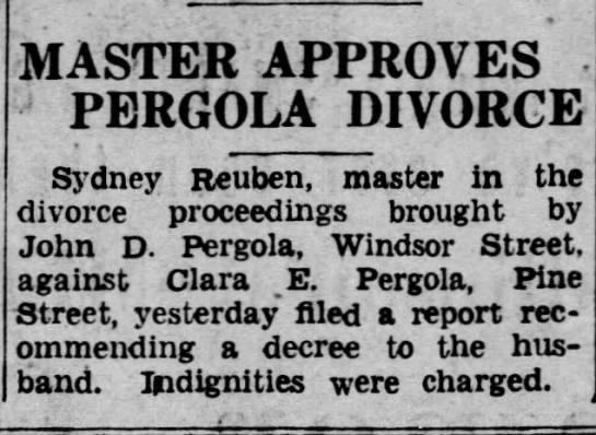 Pergola_Hoffman_Divorce_1937 - MASTER APPROVES J PERGOLA DIVORCE Sydney...