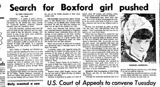 boxford - Search for Boxford girl pushed S formal Nixon...