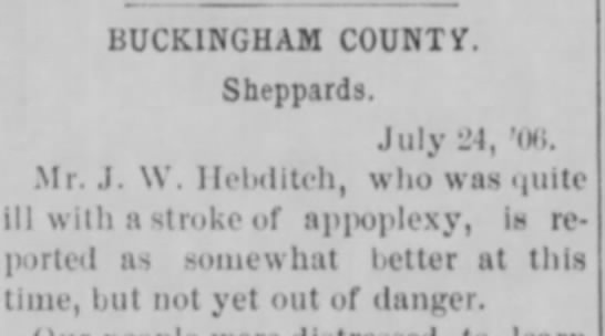 - BUCKINGHAM COUNTY. Sheppards. July -I, 'in.....