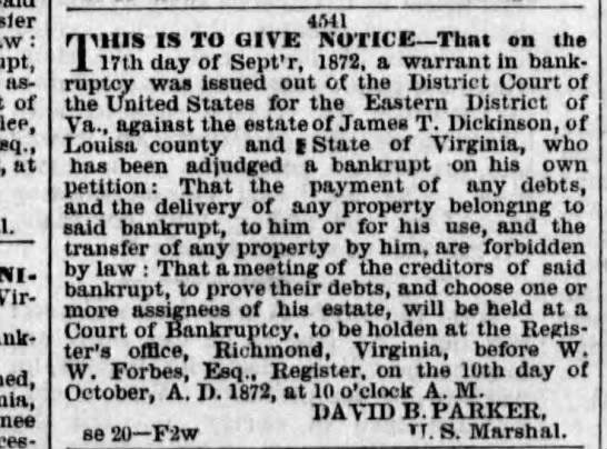Daily State Journal (Alexandria, VA) 27 Sept 1872 - : assignees of at Virginia. 4MI a MIIS IS TO...