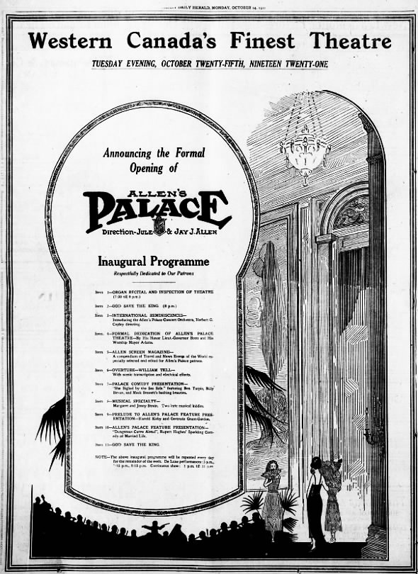 Allen's Palace opening